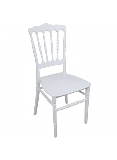 Mandella Silver Sandalye Napolyon (6 adet) Beyaz